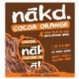 Nakd Cocoa Orange Bars x 4 pack 140g